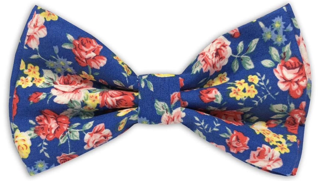 Floral Print Bow Tie (Royal)