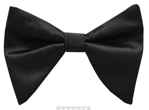 Solid Satin Long Bow Tie (Black) DKLBT100