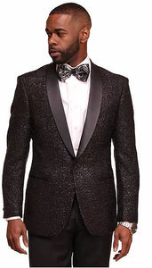 Textured Fashion Sport Coat (Black) DKC1262
