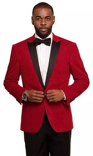 Textured Fashion Sport Coat (Red) DKC2756