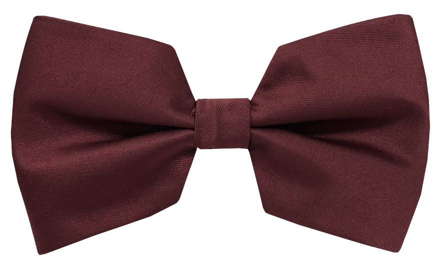 Solid Cube Bow Tie (Burgundy) DKCUBEBOW