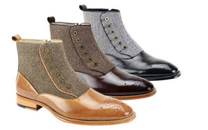 Giovanni Tweed Quarter Boots DKGEDISON
