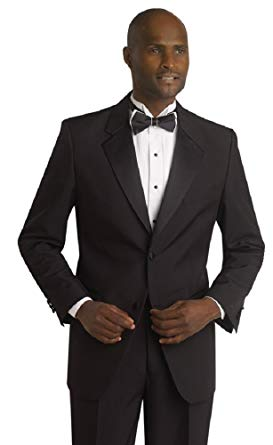 Traditional 2 button black tuxedo
