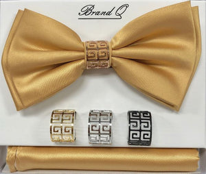 Solid Big Bow Ties w/ 4 Rings (Gold) DKRINGBT