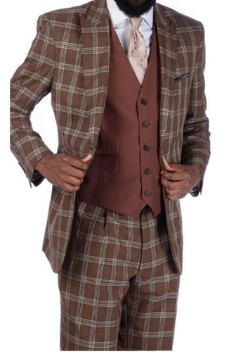 Steve Harvey Reserve Collection Suit (Bronze) DK2019708