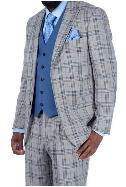 Steve Harvey Reserve Collection Suit (Grey) DK2019714