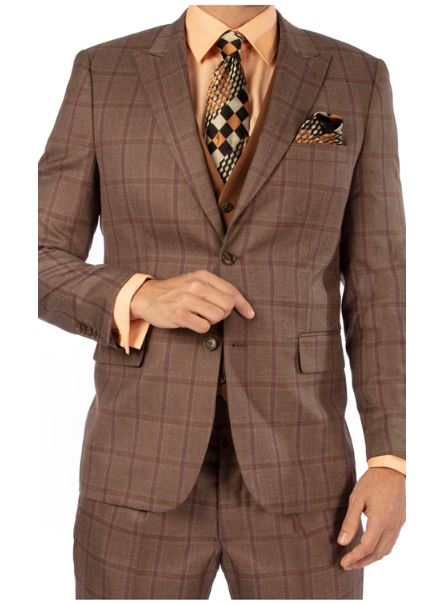 Steve Harvey Reserve Collection Suit (Taupe) DK119738