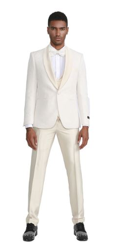 Ultra Slim Fit Fashion Formal Suit (Ivory) DKM297SKIVY