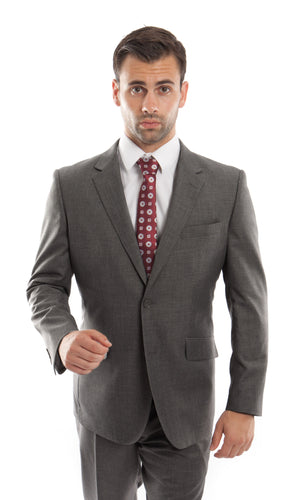 ZeGarie 100% Wool Suits (Charcoal) dkmw246