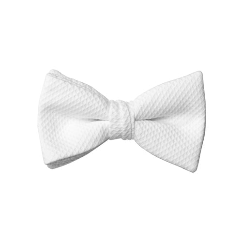 White Pique Bow Tie (pre-tied) DKPIQBOW