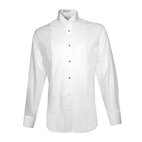 White Pique Formal Shirt