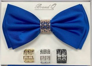Solid Big Bow Ties w/ 4 Rings (Royal) DKRINGBT