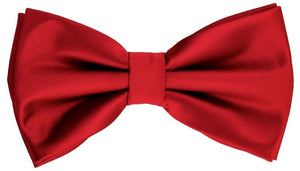 Solid bow tie set (Ruby Red) DKBQBT