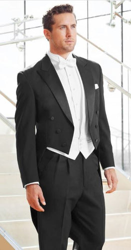 Classic Black Full Dress Tails Tuxedo (Mardi Gras Tails)