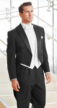 Load image into Gallery viewer, Classic Black Full Dress Tails Tuxedo (Mardi Gras Tails)