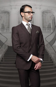 Traditional Fit 3pc 100% Wool (Brown) DKTZ1