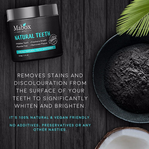 Coconut Charcoal  Teeth Whitening Powder