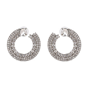 White Rhinestone Statement Earrings - www.hausofjan.com