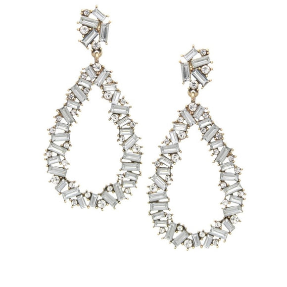 Rhinestone Drop Earrings - hausofjan.com