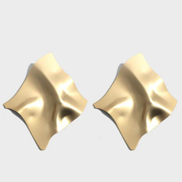 Gold Irregular Unique Earrings - hausofjan.com