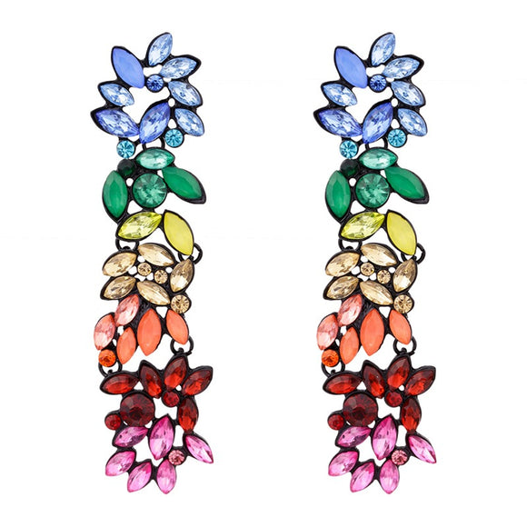 Rhinestone Rainbow Drop Earrings - www.hausofjan.com