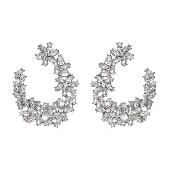 Rhinestone Glamour Wedding Earrings  - hausofjan.com