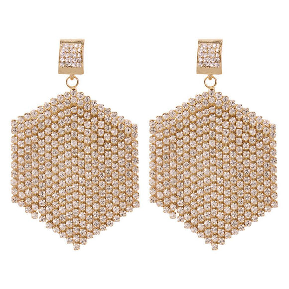 Rhinestone Dangle Earrings - www.hausofjan.com