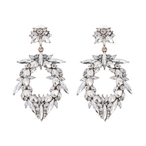 Rhinestone Drop Wedding Earrings - www.hausofjan.com