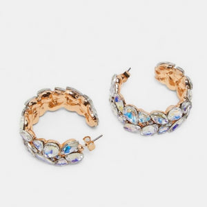 Rhinestone Hoop Earrings - hausofjan.com