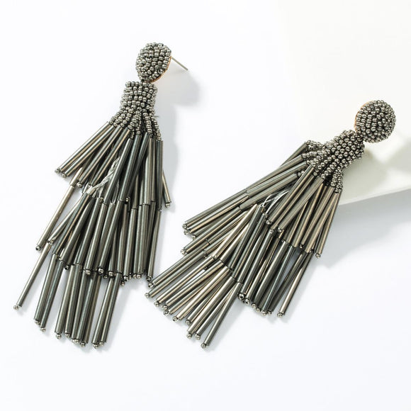 Silver Tassel Earrings - hausofjan.com