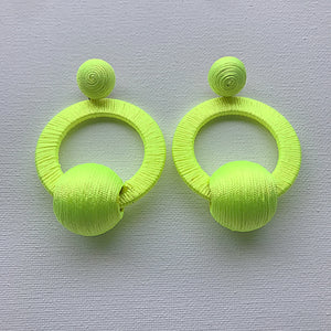 Neon Threaded Earrings - Haus of Jan