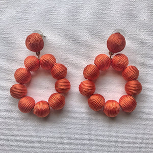 orange threaded earrings - hausofjan.com