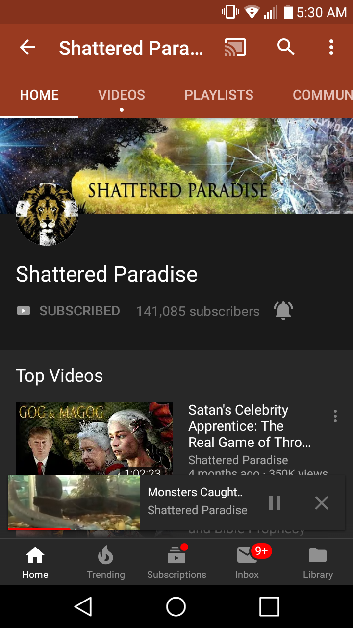 Shattered Paradise Youtube Channel