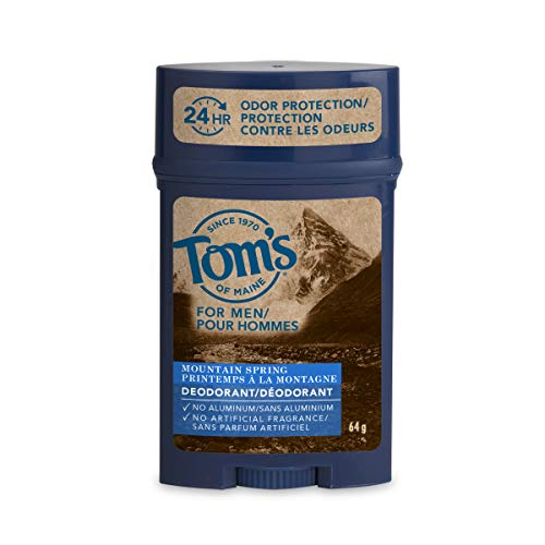 Tom's of Maine 24 Hour Mens Long Lasting Deodorant, Mountain Spring, 2.25 Ounce, 3 Count : Beauty