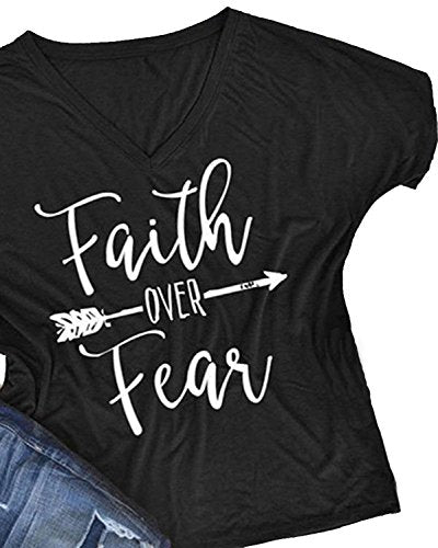 Women's Faith Over Fear V-Neck