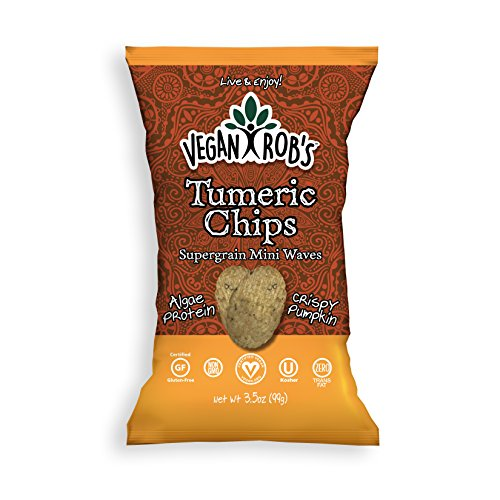 Vegan Rob's Supergrain Chips, Turmeric | Made with Brown Rice