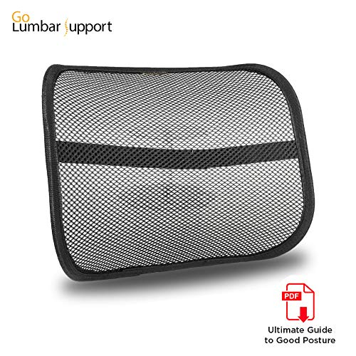 Lumbar Lower Back Support for Car Seat and Office Ergonomic Desk Chair [UPGRADE VERSION WITH STRAP]