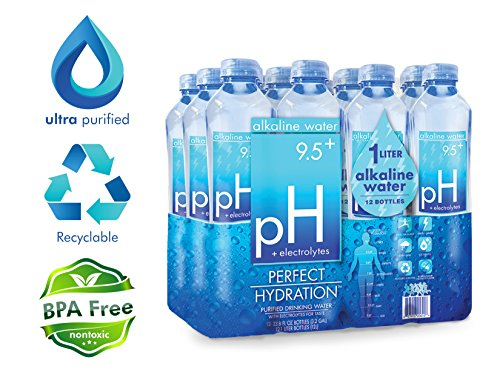 Perfect Hydration Alkaline Water, 9.5+ pH (1 Liter - 12 Pack) | Ultra Purified, Ionically Charged, Electrolyte Enhanced, Minerals Added Drinking Water | No Added Sodium, Chlorine, Fluorine: Amazon.com: Gateway