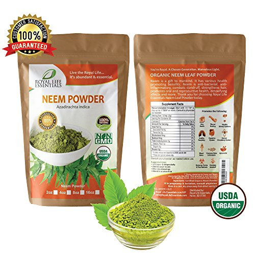 Neem Organic Leaf Powder 2oz Non GMO