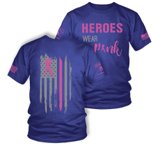Load image into Gallery viewer, Heroes Wear Pink | Breast Cancer Awareness