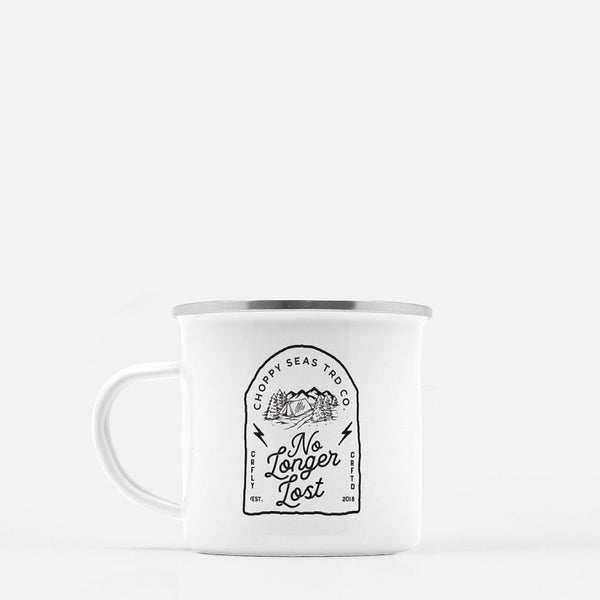"Choppy Seas ""No Longer Lost"" Camp Mug"