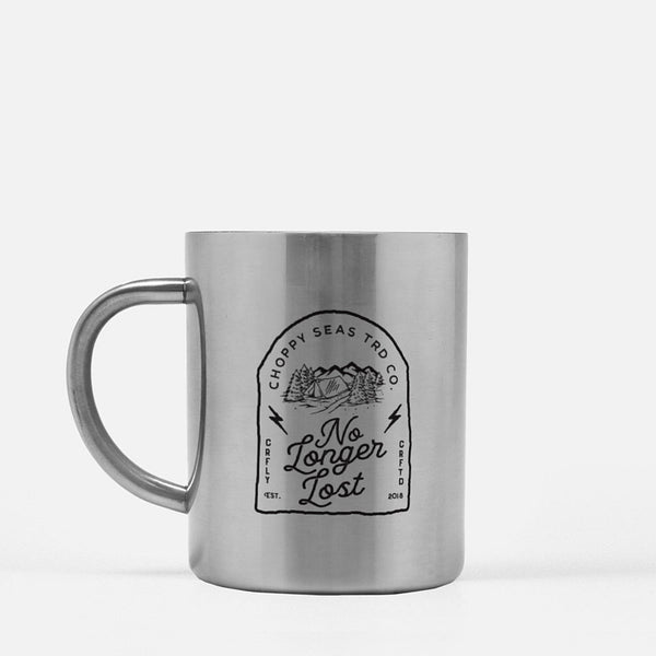 "Choppy Seas ""No Longer Lost"" Stainless Steel Mug"