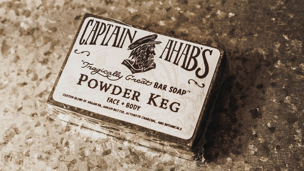 "CAPTAIN AHAB'S ""Powder Keg"" Bar Soap with Activated Charcoal"