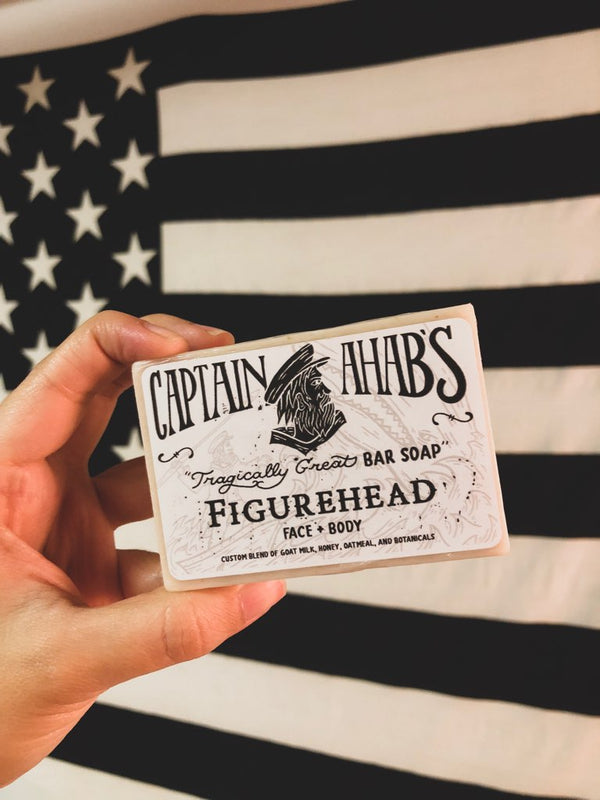 "CAPTAIN AHAB'S ""Figurehead"" Blend Premium Moisturizing Bar Soap"