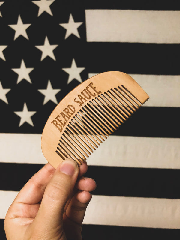 BEARD SAUCE Handmade Medium-Tooth Boxwood Pocket Comb