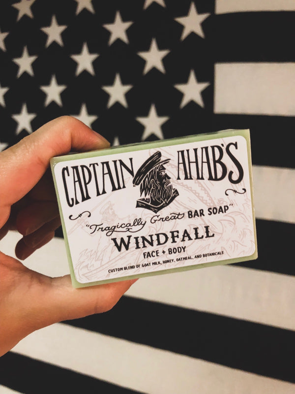 "CAPTAIN AHAB'S ""Windfall"" Blend Premium Moisturizing Bar Soap"
