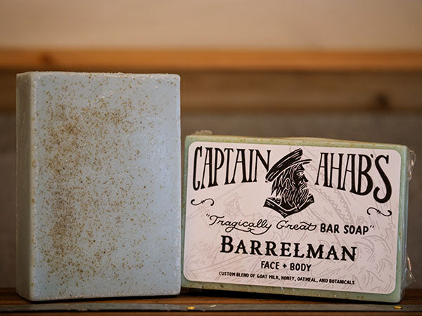 "CAPTAIN AHAB'S ""Barrelman"" Blend Premium Moisturizing Bar Soap"