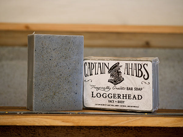 "CAPTAIN AHAB'S ""Loggerhead"" Blend Premium Moisturizing Bar Soap with Activated Charcoal"