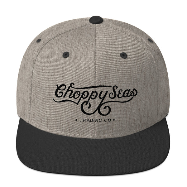 CHOPPY SEAS Wool Blend Snapback Hat