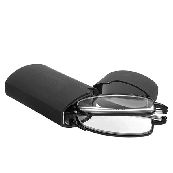 Folding Small Black Metal Frame Reading Glasses